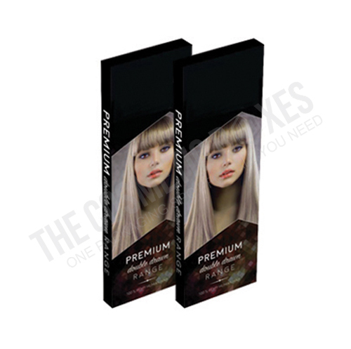 Custom cosmetic packaging (Hair Extension Boxes)