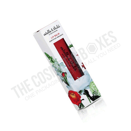cosmetic packaging (Custom printed Lip Balm Boxes)