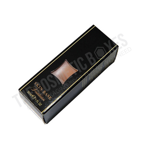 Custom cosmetic packaging (Custom Foundation Boxes)