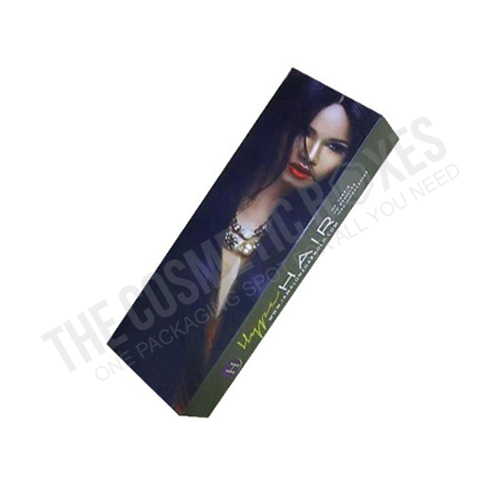 Custom cosmetic packaging (Hair Extension Packaging)