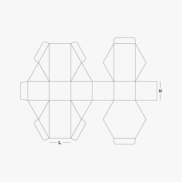 boxes style Hexagon