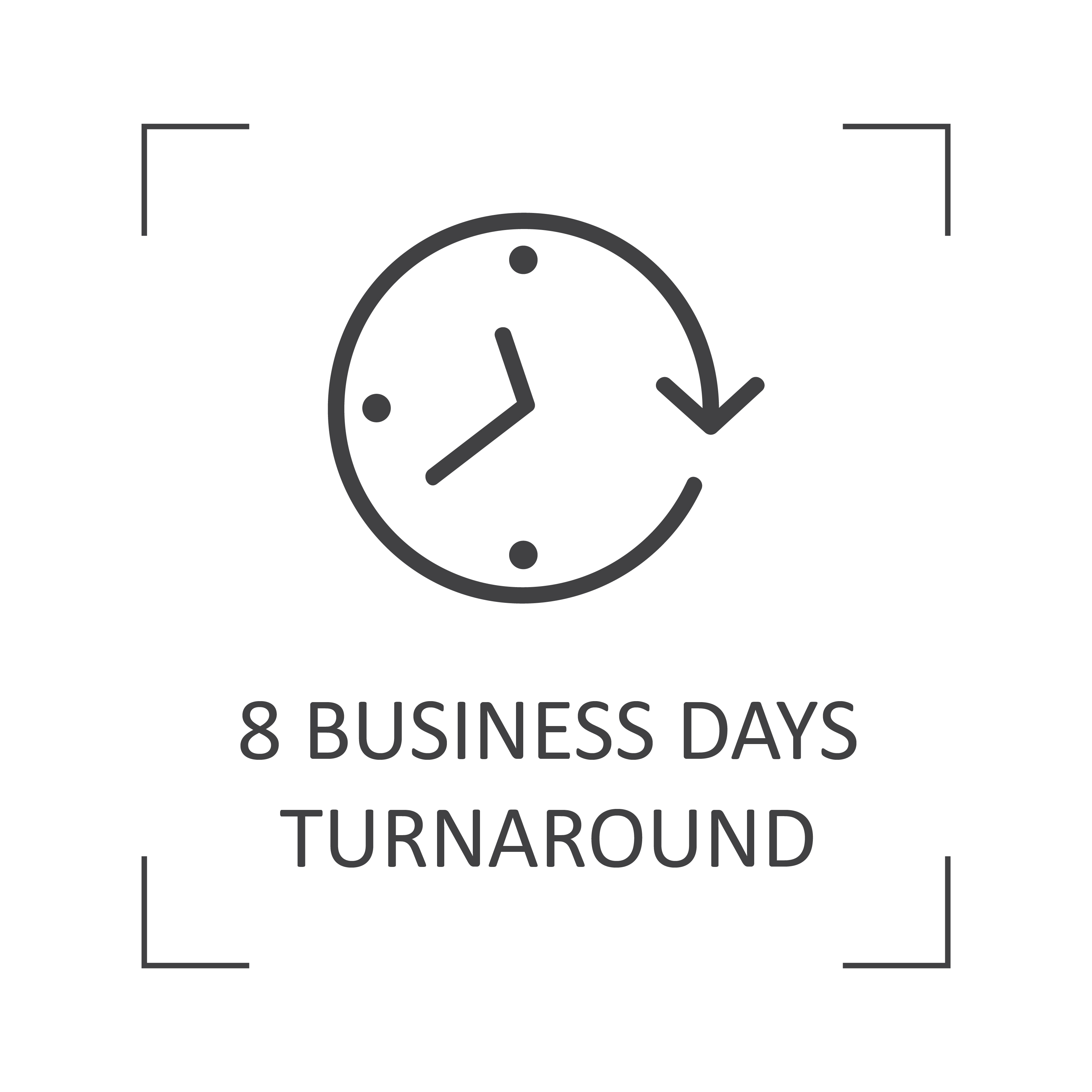 8-10 days turnaround